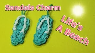 Rainbow Loom Charms: SANDALS / FLIP FLOPS (crazy Loom