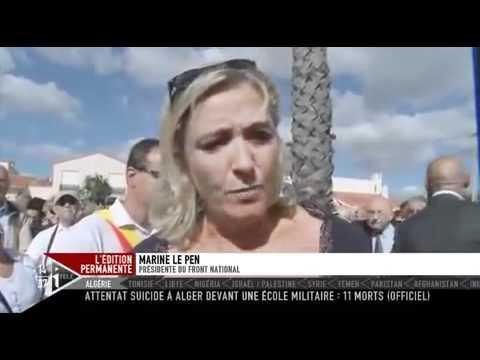 Marine Le Pen rend hommage aux pieds noirs et harkis