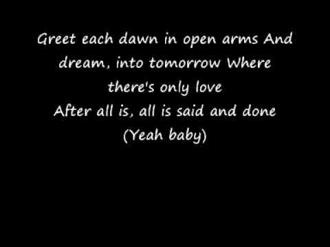 Beyonce And Marc Nelson - After All Is Said And Done Lyrics