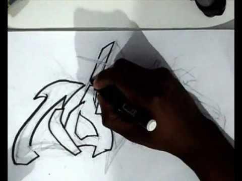 Vídeo Aula com Gene do Grafite 068 - Letra de Graffiti