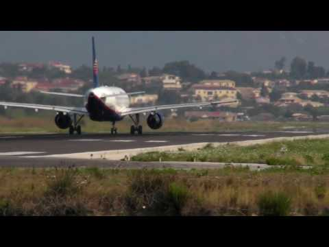 Corfu Airport - Kerkyra Airport - LGKR - landing - take-off - HD