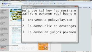 Descargar Pokemon Rubi O Zafiro Español