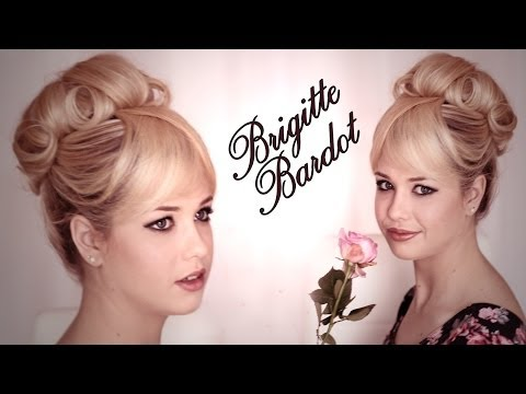 Hair and makeup tutorial inspired by Brigitte Bardot