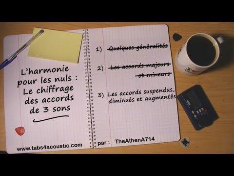 Cours de guitare : L'harmonie pour les nuls - le chiffrage d'accords de 3 sons - Partie 3