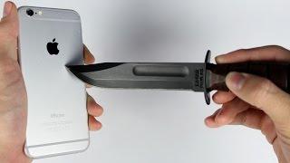 اختبار خدش ايفون 6 الجديد بالمفاتيح والسكين