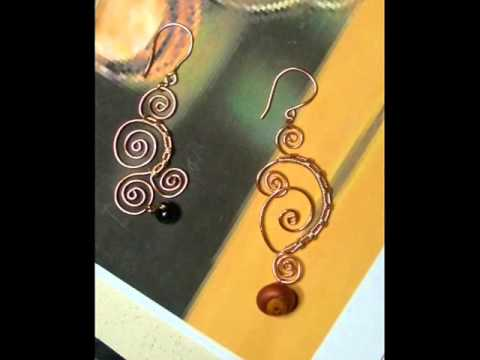 Wire wrapped earrings tutorial youtube for Step by step wire jewelry subscription