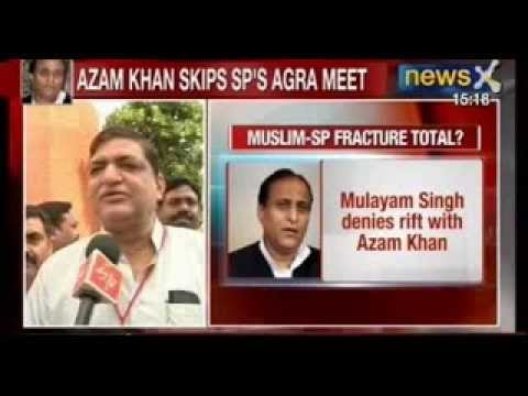 News X: SP toughens stand against Azam Khan