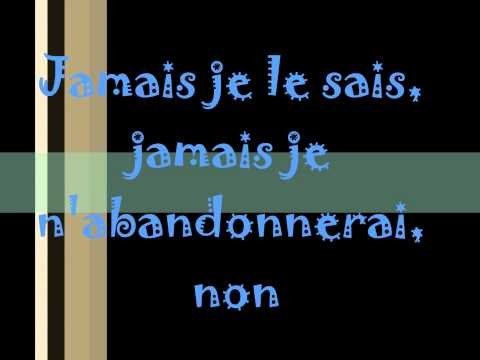 Pour ce soir playlist - Les chevaliers de la table ronde lyrics ...