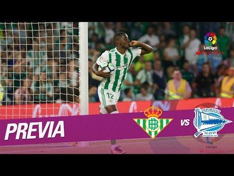 Previa Real Betis vs Deportivo Alavés