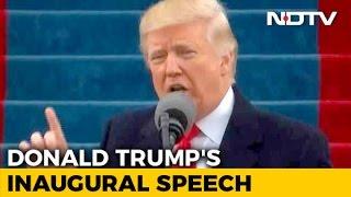 Watch US President Trump's entire inaugural address..