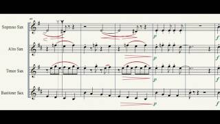 Cantina Band music from star wars IV for sax quartet