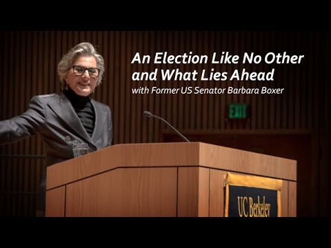 An Election Like No Other and What Lies Ahead with Former US Senator Barbara Boxer