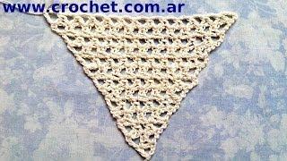 Chal Triangular En Tejido Crochet Tutorial Paso A Paso