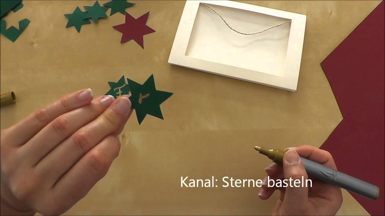 Weihnachtskarten basteln weihnachtsgeschenke selber for Weihnachtskarten selbst basteln anleitung