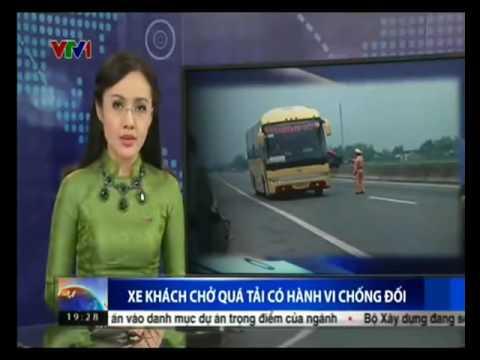 Clip hót Video xe khách lao thẳng vào cảnh sát giao thông 2016 giải trí vui cười hài hước h 2017