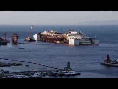 Costa Concordia Refloating - Day 4 Time-Lapse