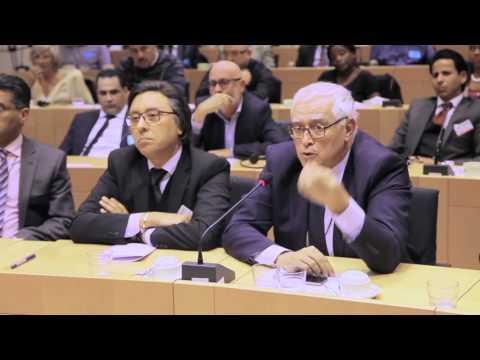 Intervention de son Exellence  Mr Menouar Alem , ambassadeur du Maroc auprès de l'union européenne intervenant lors du débat qui a suivi la projection du documentaire : Sahara, sources et ressources qui a eu lieu au Parlement européen le 5/04/2016