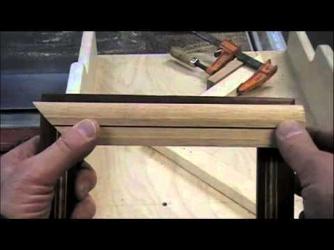 woodworking project how to make picture frames on a table saw miter sled methods skills. Black Bedroom Furniture Sets. Home Design Ideas