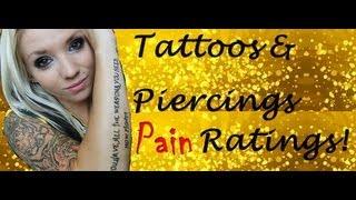 My Tattoos & Piercings Pain Ratings.