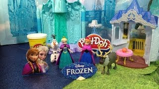 FROZEN Princess Anna And Queen Elsa Light Castle And Ice