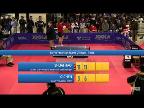 2013 JOOLA / NATT Teams Final: Shuai Hao vs Xi Chen