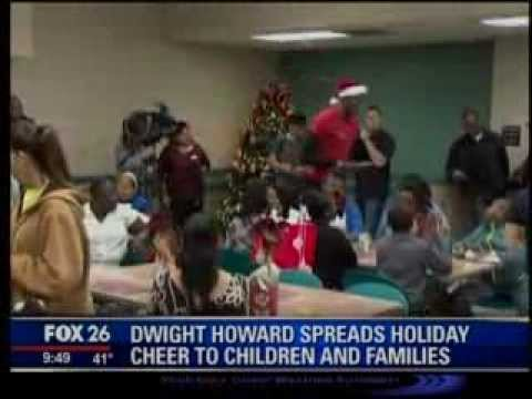 Houston Rockets Dwight Howard visits Family Residence