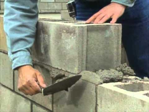 Building a concrete block foundation bob vila youtube for Cement block foundation