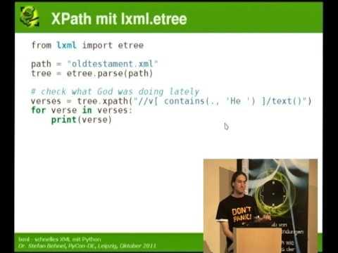 Image from lxml - schnelles XML mit Python