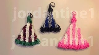 How To Make A Rainbow Loom Winter Snow Hat Charm Or