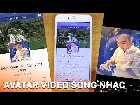 Hướng dẫn tạo video avatar facebook sóng nhạc bằng điện thoại cực chất
