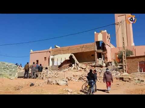 كارثة انهيار مسجد بعروسة الجنوب مدينة تنغير