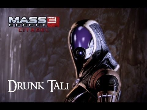 Mass Effect 3: Citadel DLC - Drunk Tali (All Scenes) [HD]