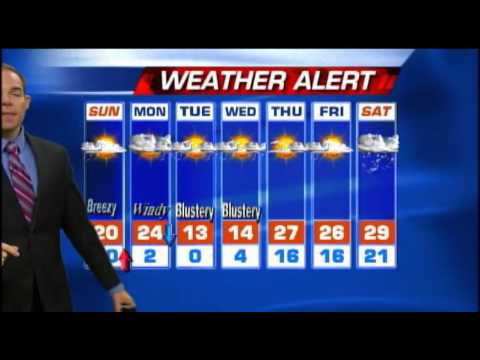 Meteorologist Matt Stevens Sunday morning weather 1-26-2014