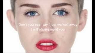 Miley Cyrus Wrecking Ball Letra En Ingles