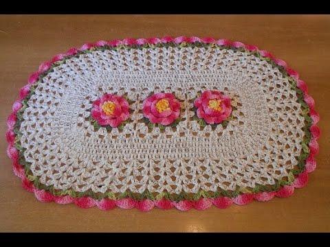 Tapete de crochê passo a passo jardim em flores parte 1