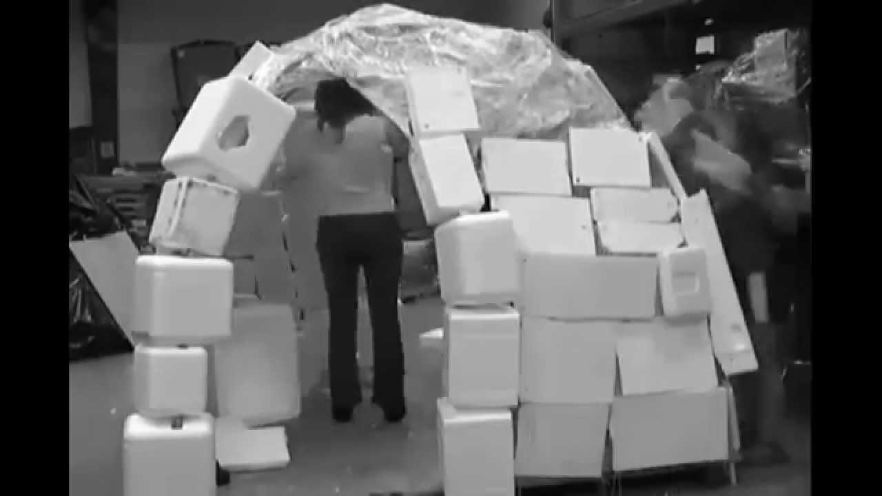 Osu Recycled Styrofoam Igloo Construction Youtube