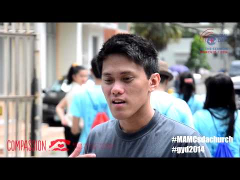 Global Youth Day - Acts of Compassion in Manila Adventist College Church, Philippines 2014