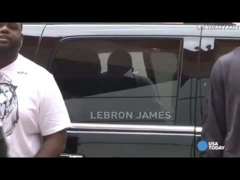 LeBron James avoids cameras in Las Vegas
