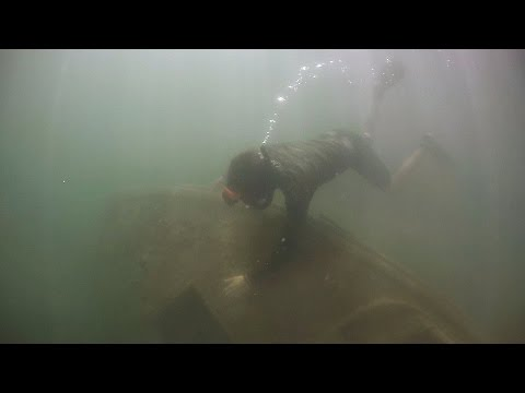 Found Sunken Boat Underwater in Lake While Freediving! (Crystal Clear Water)