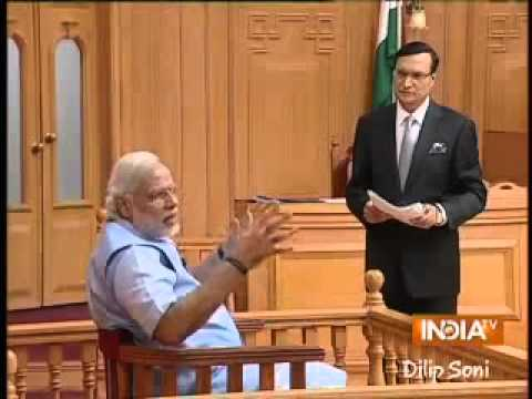 Narendra Modi in Aap Ki Adalat 2014: On US Visa ban issue