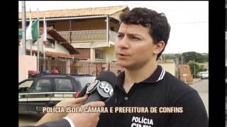 Mais de 40 policiais participam de opera��o que investiga fraude em licita��es em Confins