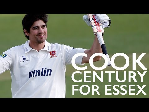 Alastair Cook century for Essex - with baby dance!