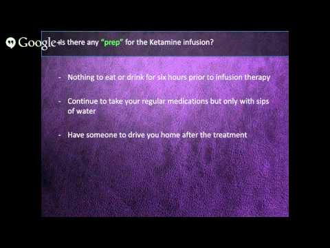 Questions & Answers About Ketamine Infusion For Depression - Part 3 of 3