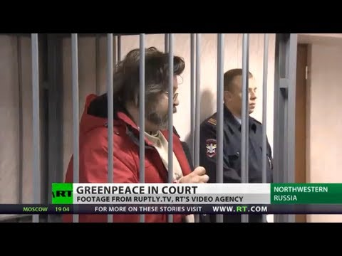 Greenpeace activists detained in Arctic 'piracy' case
