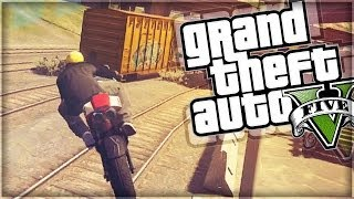 GTA 5 Funny Moments | Train Wrecked (GTA V Online)