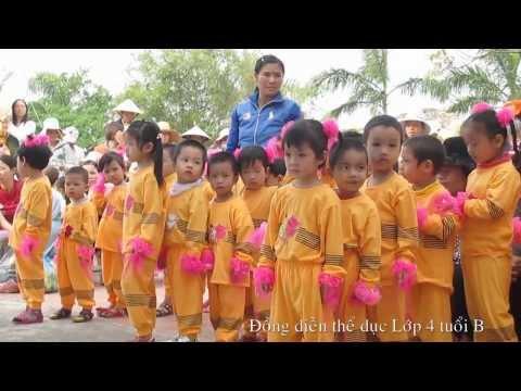 Đồng diễn thể dục lớp 4 tuổi B Trường mầm non Thuỵ Quỳnh 2013