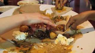How to eat Ethiopian Food at Mesob