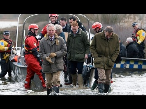 Prince Charles visits flood hit Somerset
