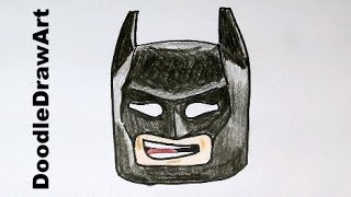 Drawing: How To Draw Lego Batman Step By Step For Kids