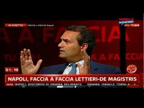 Confronto fra De Magistris e Lettieri a Sky Sky Tg24, 20 maggio 2011.
